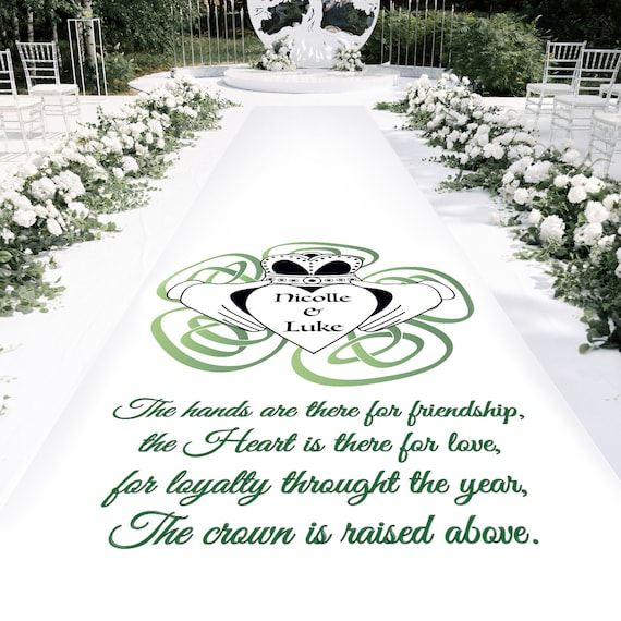 Claddagh Wedding Wedding Aisle Runner - Personalised Wedding Aisle Runners