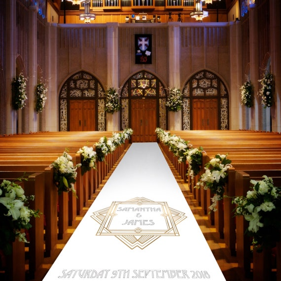Art Deco Wedding Aisle Runner - Personalised Wedding Aisle Runners