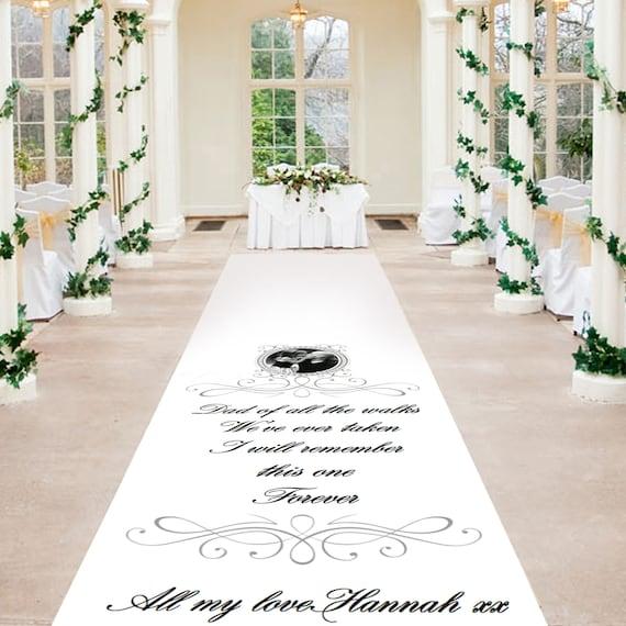 Personalised Wedding Aisle Runner - Wedding Walk With Dad  Personalised Wedding Aisle Runners
