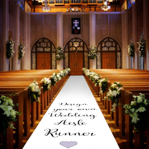 Design Your Own Aisle Runner - Personalised Wedding Aisle Runners