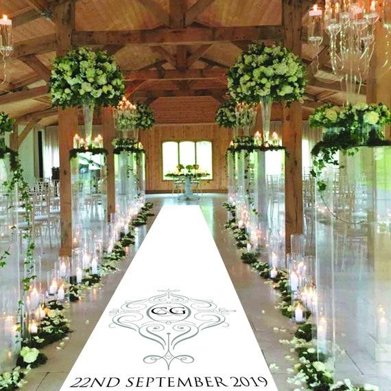 Monogram Wedding Aisle Runner - Classic Design Personalised Wedding Aisle Runners