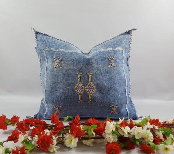 Moroccan Cactus Silk Sabra Vegan Pillow Vintage Moroccan Cactus Silk Sabra handmad pillow,home and living,home decor