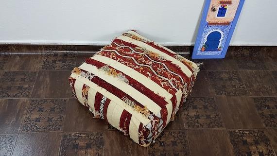 Moroccan floor pillow poufs Beni Ourain pouf  kilim pouf floor pillows stuffed floor pouf