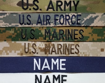Military name tape | Etsy