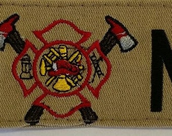 Custom Embroidered fireman's gear/luggage tag