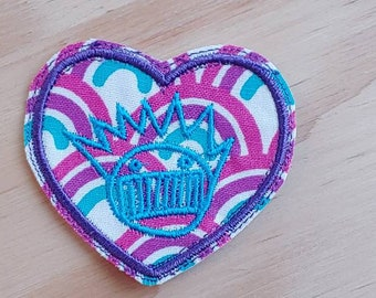 Boognish Love Heart patch sew on handmade embroidered patches Ween Fan Art