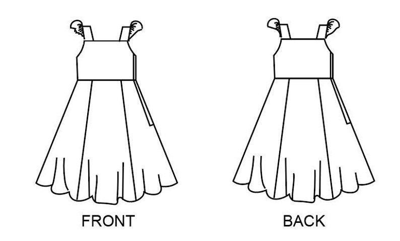 Baby sewing pattern pdfruffle sleeve pdf patterngirls dress image 0
