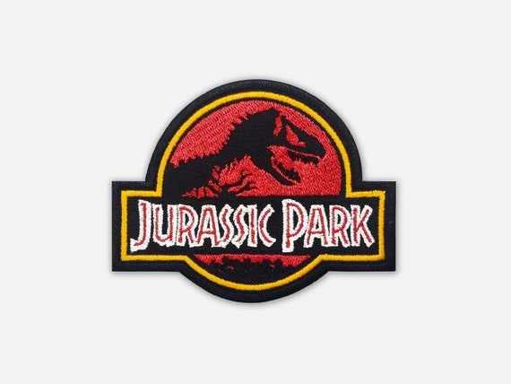 Emroidered Patch Of Jurassic Park Logo Etsy