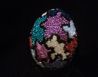 Beaded Egg with original puzzle design