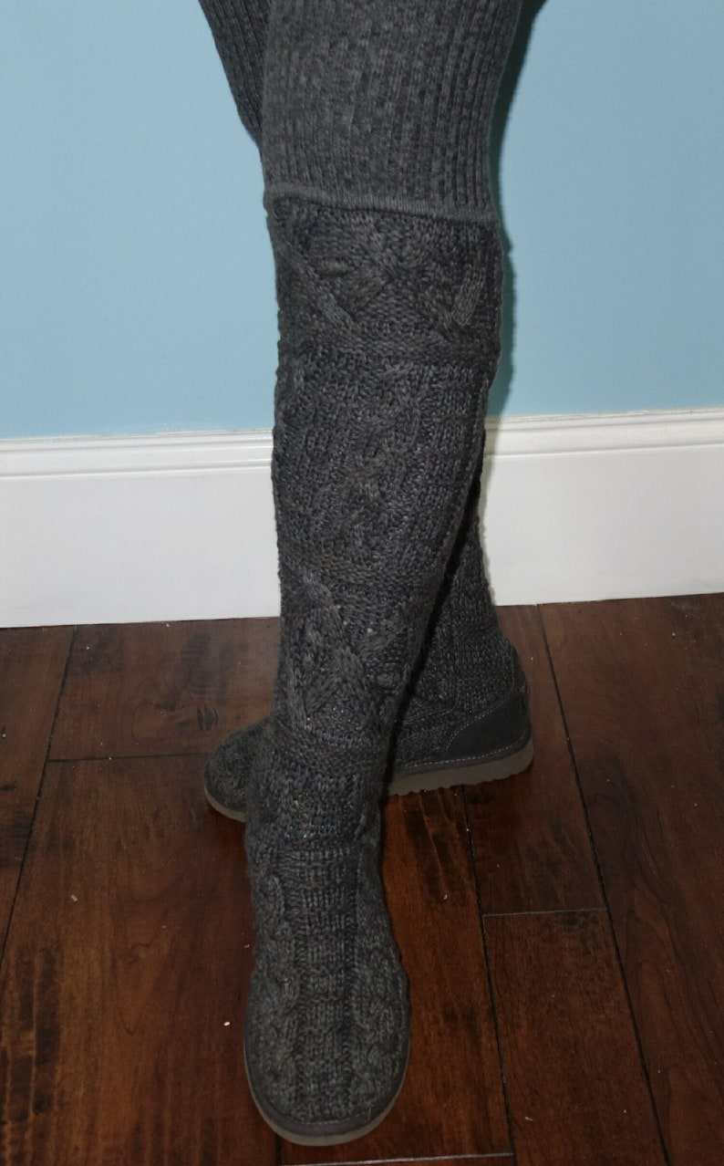 e66f0d696b5 UGG Austrailia Womens Over The Knee Twisted Cable Boots FREE