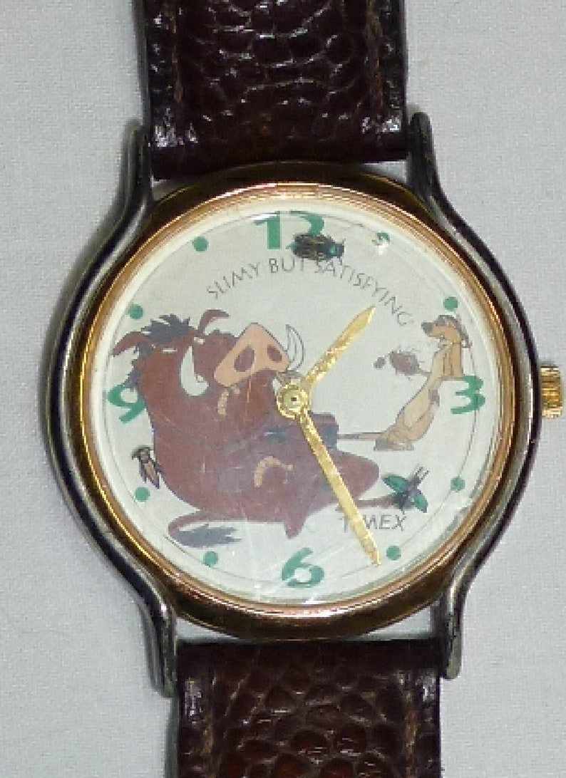 d9ea50836f1 Disney Lion King Timon and Pumba Timex Watch FREE SHIPPING | Etsy