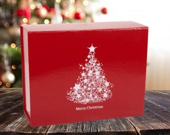 Christmas gift box | Etsy