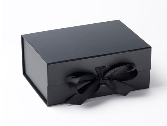 Luxury Deep A5 Black Box With Ribbon Black Gift Box Etsy