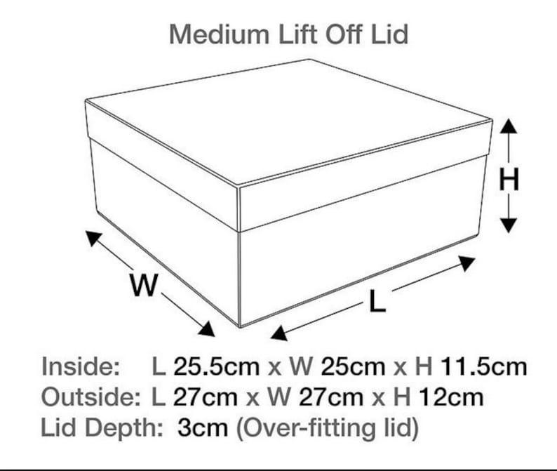 Gift Boxes Cream Box Ivory Gift Box Ivory Gift Box with Lid Gift Boxes With Lids Hat Box Lidded Box