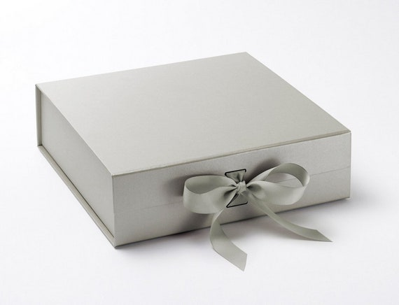 Luxury Silver Gift Box With Ribbon Silver Gift Box Gift Box For Wedding Gold Box Gift Boxes With Lids Gift Boxes With Ribbon