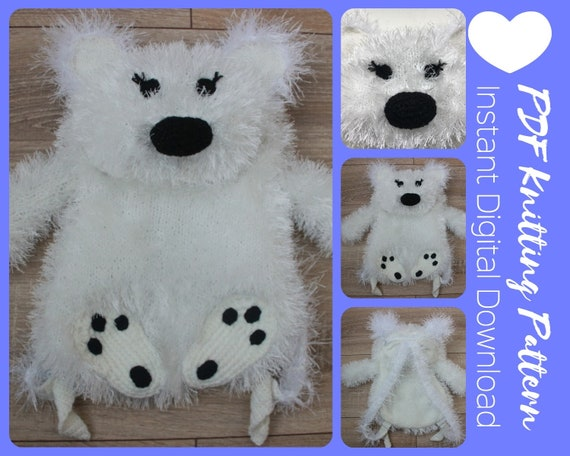 Cute Knitted Polar Bear Backpack Pattern White Bear Backpack Etsy