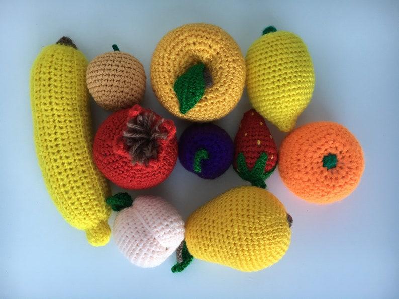 Crochet Harvest - crochet fruits and vegetables | Fruta de ... | 596x794