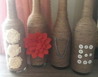 L-O-V-E Wine Bottles