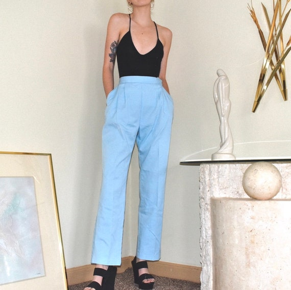 1940s/1950s Vintage Powder Blue Wrangler Trousers