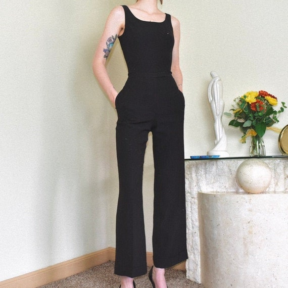 90s Espresso Two Piece Suit Set - Size 2P