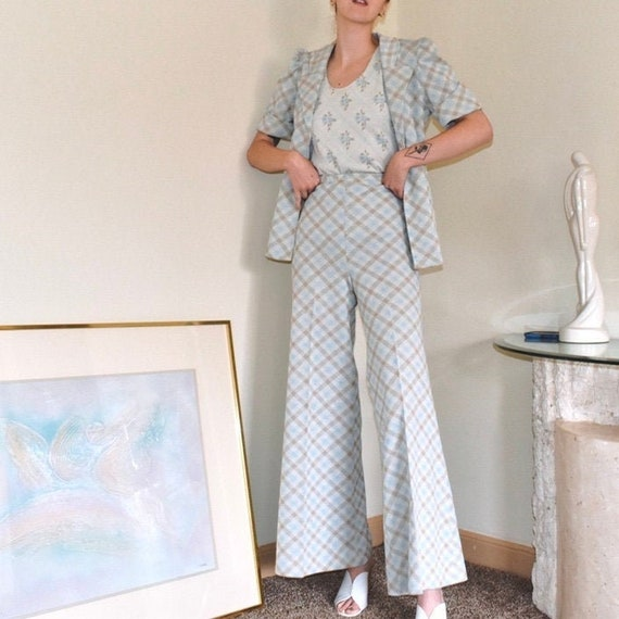 1970s Muted Pant Suit Set