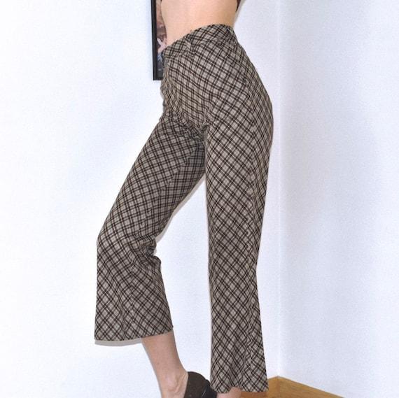 Vintage 1970's Plaid Flare Pants