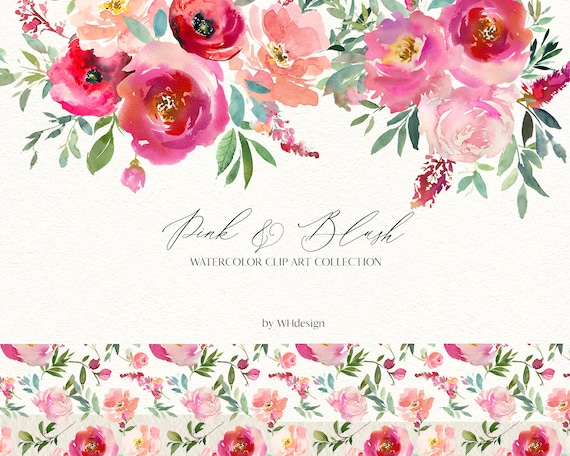 Melissa* Peach /& Mauve Watercolor Floral Clipart Peach Rose Peony Flowers PNG Floral Clipart Wedding Stationery Logos Nursery Decor #O1