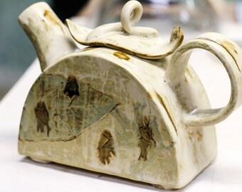 Beige Ceramic Teapot