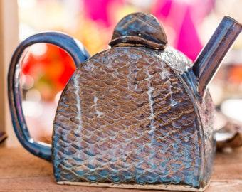 Blue Mermaid Teapot