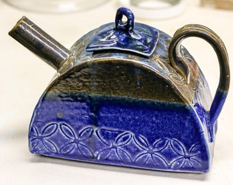 Blue Floral Teapot