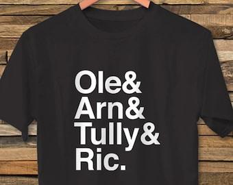 c209a38dc64 The Four Horsemen NWA WCW Wrestling Unisex T-Shirt Ric Flair Arn   Ole  Anderson Tully Blanchard Crockett Vintage Retro Style Design