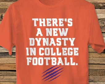 1b31715cc Clemson Football T-Shirt // There's A New Dynasty In College Football  Clemson Tigers Trevor Lawrence National Championship Tee Shirt Tshirt
