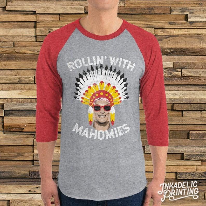 Patrick Mahomes    Rollin  With Mahomies Funny Raglan  29c927cb0