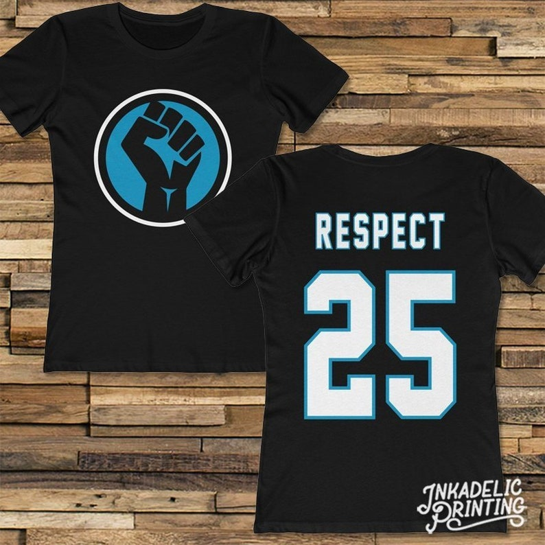 finest selection d074b e6887 Eric Reid 25 Carolina Panthers Inspired Women's T-Shirt // Black Power Fist  Respect Social Justice Protest Black Equality Kaepernick