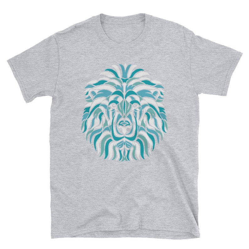 10edb3611d660e Lion Face Street Art T-Shirt to match Jordan 1 Turbo Green