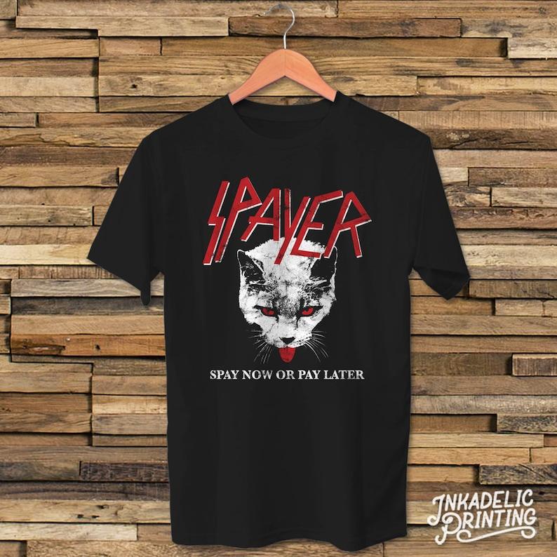 7dd52ff4e Spayer Funny Vintage Style Slayer Parody Cat Kitty Feline Spay | Etsy