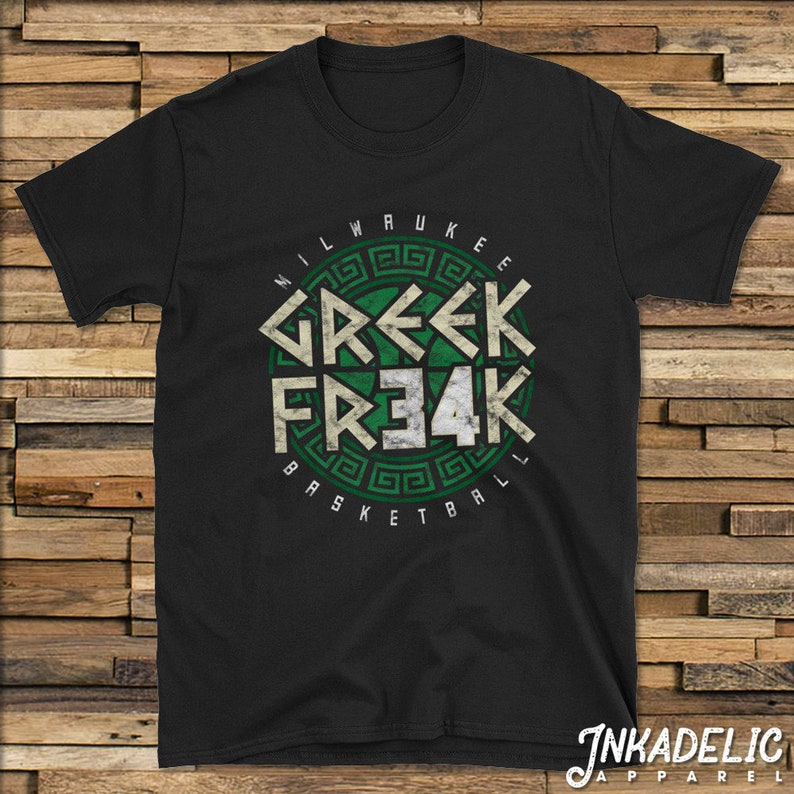 47272be0022 Giannis Antetokounmpo Greek Freak 34 T-Shirt for fans of