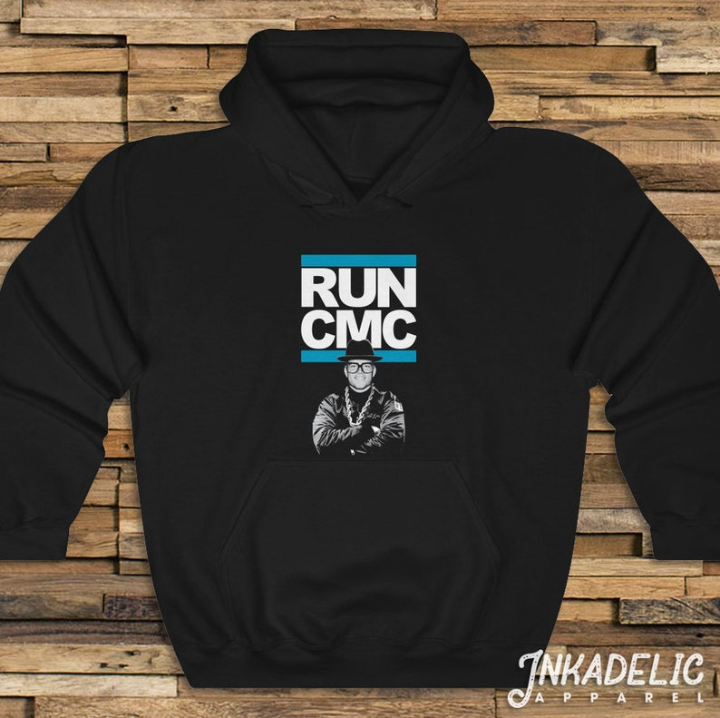 quality design e4932 78573 Run-CMC Hoodie for Christian McCaffrey & Carolina Panthers fans Football  North South Carolina 704 864 CMAC C-Mac Unisex Hooded Sweat Shirt