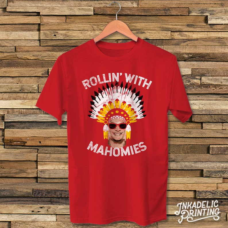 Patrick Mahomes    Rollin  With Mahomies Funny T-Shirt    Kansas City  Football    Chiefs Quarterback Inspired    Vintage Distressed Style b44a71a39