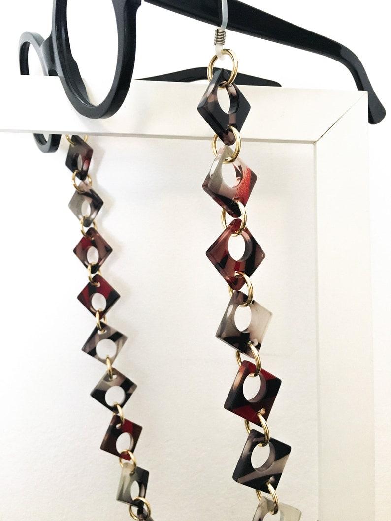 Cellulose acetate eyewear necklace
