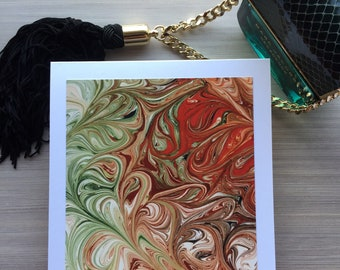 Pack of 3: Arty, Abstract, Original art, Blank, Greeting cards,