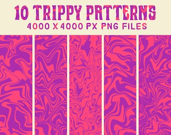 Acid Pattern Trippy Etsy