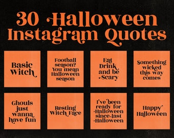 Halloween Quotes Instagram Graphics Motivational Quotes | Etsy