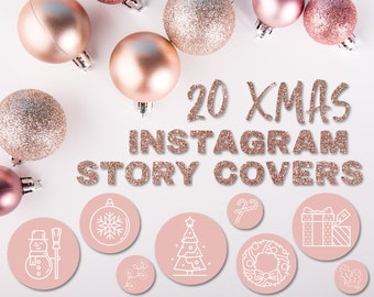 Christmas Icon For Instagram Highlights.Xmas Insta Story Cover Icons Christmas Instagram Highlights