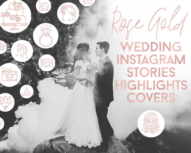 20 Rose Gold White Wedding Instagram Stories Icons Boho Wedding Planner Wedding Photohrapher Insta Story Covers Highlights Blog