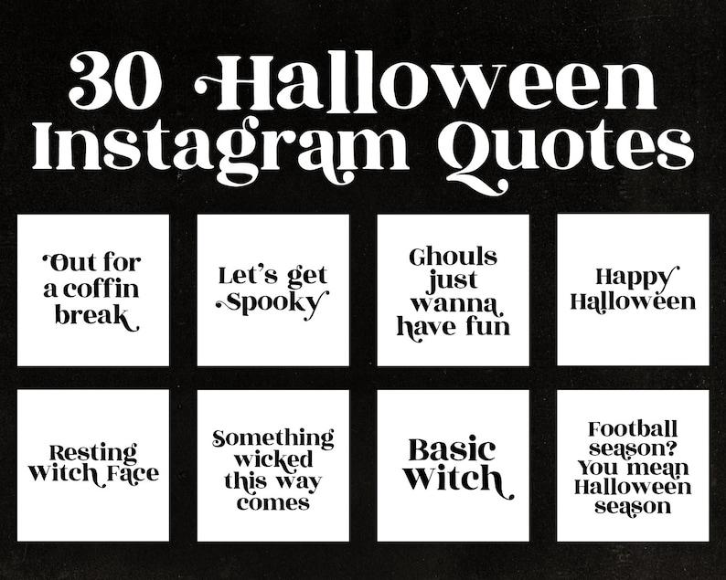 Halloween Quotes Instagram Social Media Witch Insta Branding Etsy