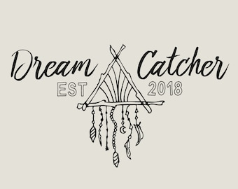 Dream Catcher Logo Boho Fashion Blog Logo Business Gypsy Logo Bohemian Branding Kit Photography Logo Premade Custom Ethnic Logo Tribal Luxe