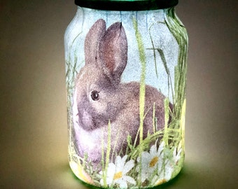 Easter Decorations Spring Gifts Light Up Bottle Shabby Etsy