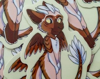 Chibi Dutch Angel Dragon 3 inch vinyl sticker