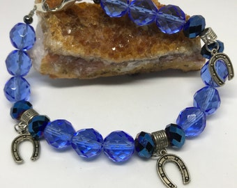 Triple Horseshoe bracelet for Healing Love